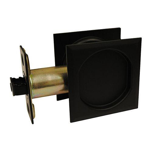 Pocket Door Pull - Square - Passage, Black