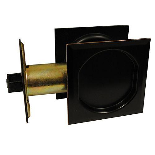 Pocket Door Pull - Square - Passage, Oil-Rubbed Bronze