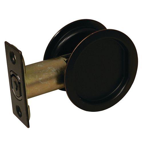 Pocket Door Pull - Round - Passage, Oil-Rubbed Bronze