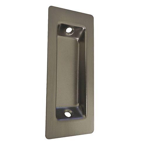 Rectangular Flush Pull, Brushed Nickel