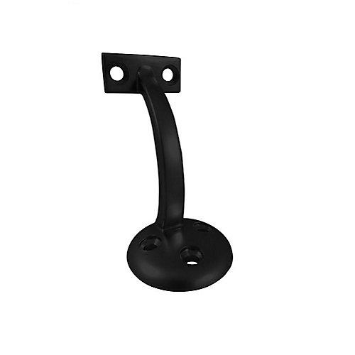 3-5/32 inch Handrail Bracket, Matte Black