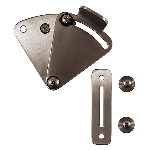 Sliding Barn Door Lock, Stainless Steel