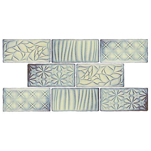 Merola Tile Antic Sensations Pergamon 3-inch x 6-inch Ceramic Wall Tile (4 sq. ft. / case)