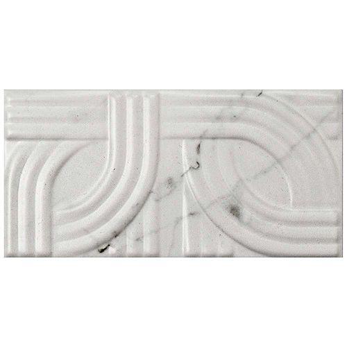 Merola Tile Carreau mural en céramique 3 po x 6 po Classico Metropolis Carrara mat (10,95 pi2/bte)