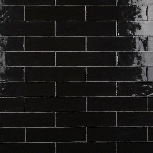 Chester Nero 3-inch x 12-inch Ceramic Wall Tile (5.5 sq. ft. / case)