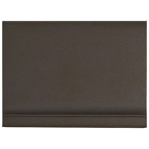 Merola Tile Klinker Chocolate Black Skirting 4-1/2-inch x 5-7/8-inch Ceramic Floor & Wall Quarry Tile(1.62sf/ca)