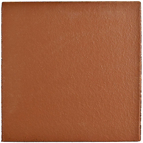 Klinker Red Bullnose 5-7/8-inch x 5-7/8-inch Ceramic Floor and Wall Quarry Tile(2.08 sq. ft. / case)