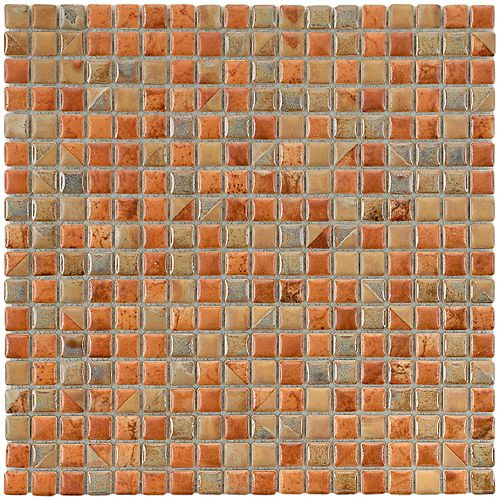 Merola Tile Rustica Mini Tundra Beige 12-inch x 12-inch x 8 mm Porcelain Mosaic Tile (10.21 sq. ft. / case)