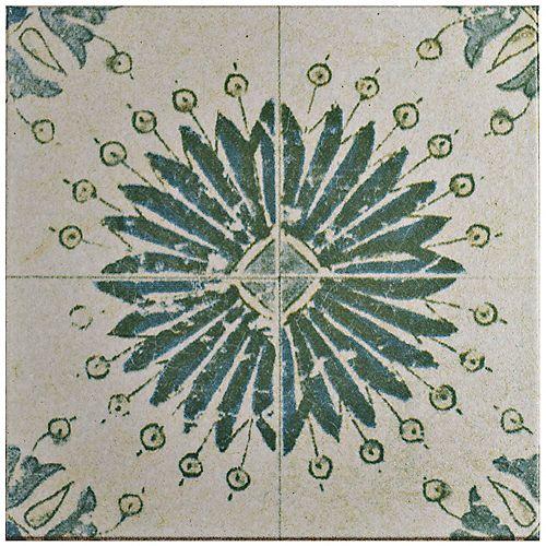 Merola Tile Klinker Retro Blanco Aster 12-3/4-inch x 12-3/4-inch Ceramic Floor and Wall Quarry Tile (7.04 sf/ca)