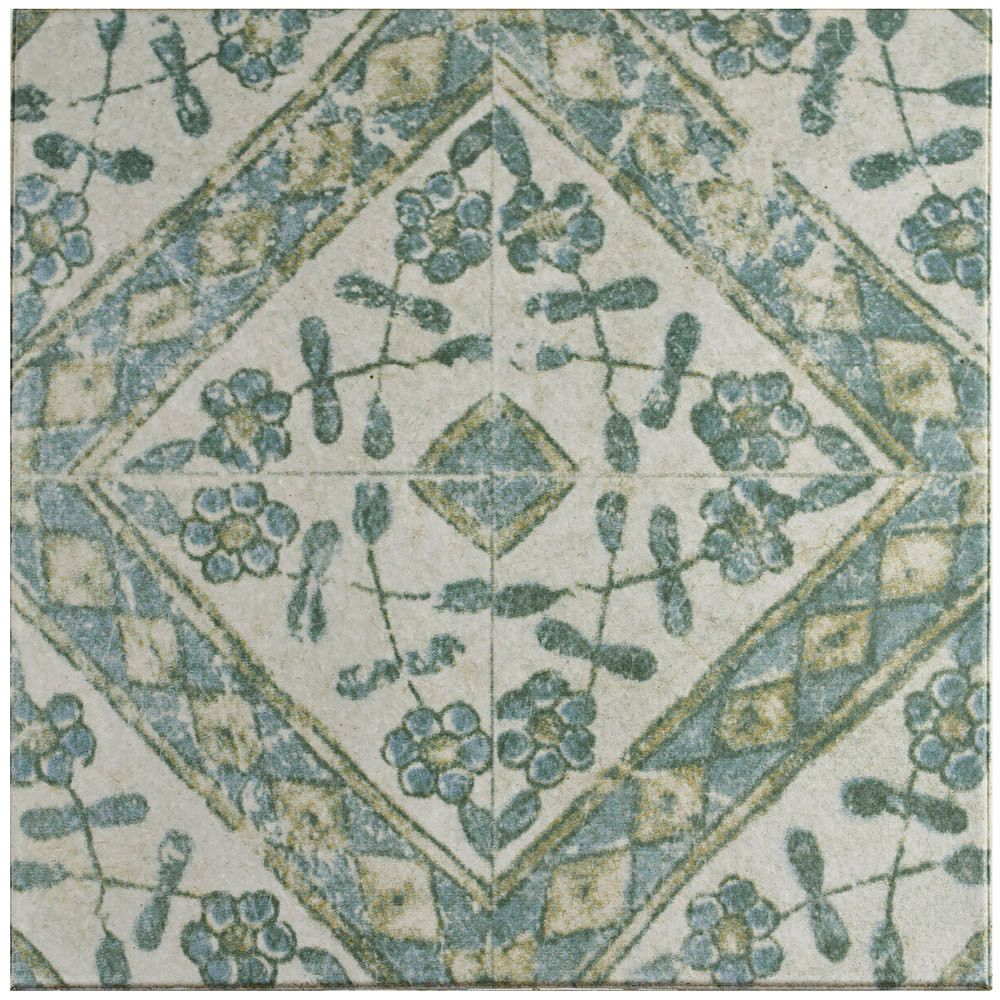 Merola Tile Klinker Retro Blanco Bergenia 12-3/4-inch x 12-3/4-inch Ceramic Floor & Wall Quarry Tile(7.04 sf/ca)