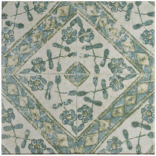 Merola Tile Klinker Retro Blanco Bergenia 12-3/4-inch x 12-3/4-inch Ceramic Floor & Wall Quarry Tile(7.04 sf/ca)