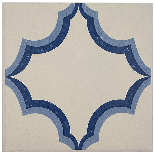 Cementi Quatro Ara Centro 7-inch x 7-inch Porcelain Floor and Wall Center Tile(10.95 sq. ft. / case)