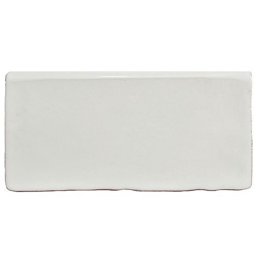 Merola Tile Antic Special Milk Bullnose 3-inch x 6-inch Ceramic Wall Trim Tile (4.17 Ln. ft. / case)
