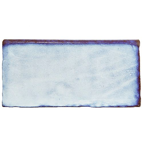 Merola Tile Bordure murale arrondie en céramique 3 po x 6 po Antic Special, Via Lactea (4,17 pi. lin./bte)