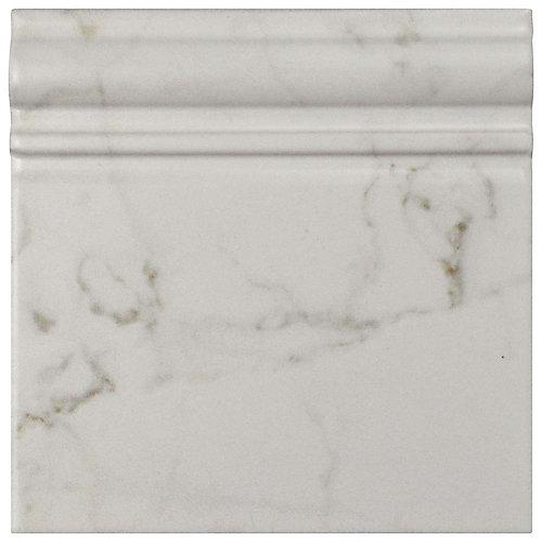 Classico Carrara Matte Skirting Base 6-inch x 6-inch Ceramic Wall Trim Tile (5.21 Ln. ft. / case)