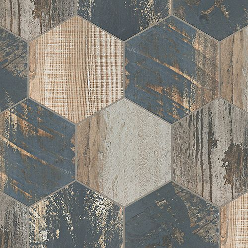 Gaugin Hex Catan Shadow 8 1/2-inch x 9 3/4-inch Porcelain Floor and Wall Tile (11.28 sq. ft. / case)