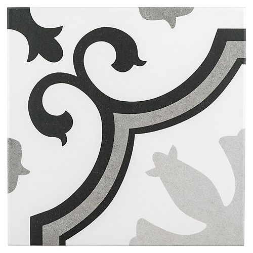 Lacour Grey 9-3/4-inch x 9-3/4-inch Porcelain Floor and Wall Tile (11.11 sq. ft. / case)