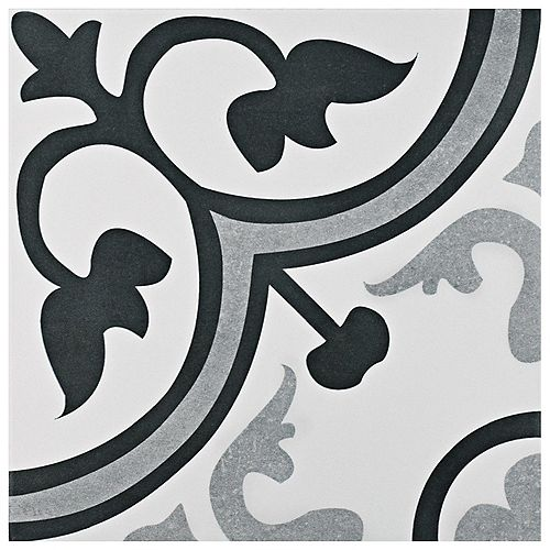 Amberes Classic 12 3/8-inch x 12 3/8-inch Ceramic Floor and Wall Tile (10.96 sq. ft. / case)