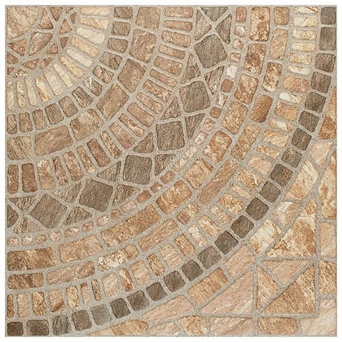 Terra Beige 17-3/4-inch x 17-3/4-inch Ceramic Floor and Wall Tile (22.5 sq. ft. / case)