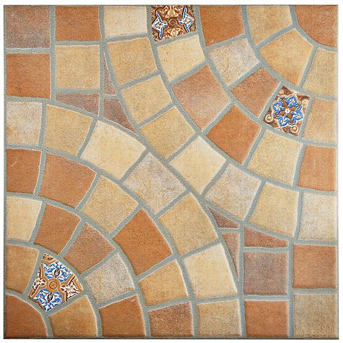 Merola Tile Ankara Jet Teja 13-1/8-inch x 13-1/8-inch Ceramic Floor and Wall Tile (7.45 sq. ft. / case)