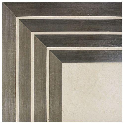 Merola Tile Carreau mur et sol en céramique 17 3/4 po x 17 3/4 po Arista Jet Noce (11,25 pi2/bte)