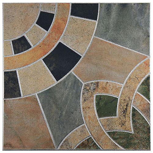 Carreau mur et sol en céramique 17 3/4 po x 17 3/4 po Cartago Azul (11,25 pi2/bte)