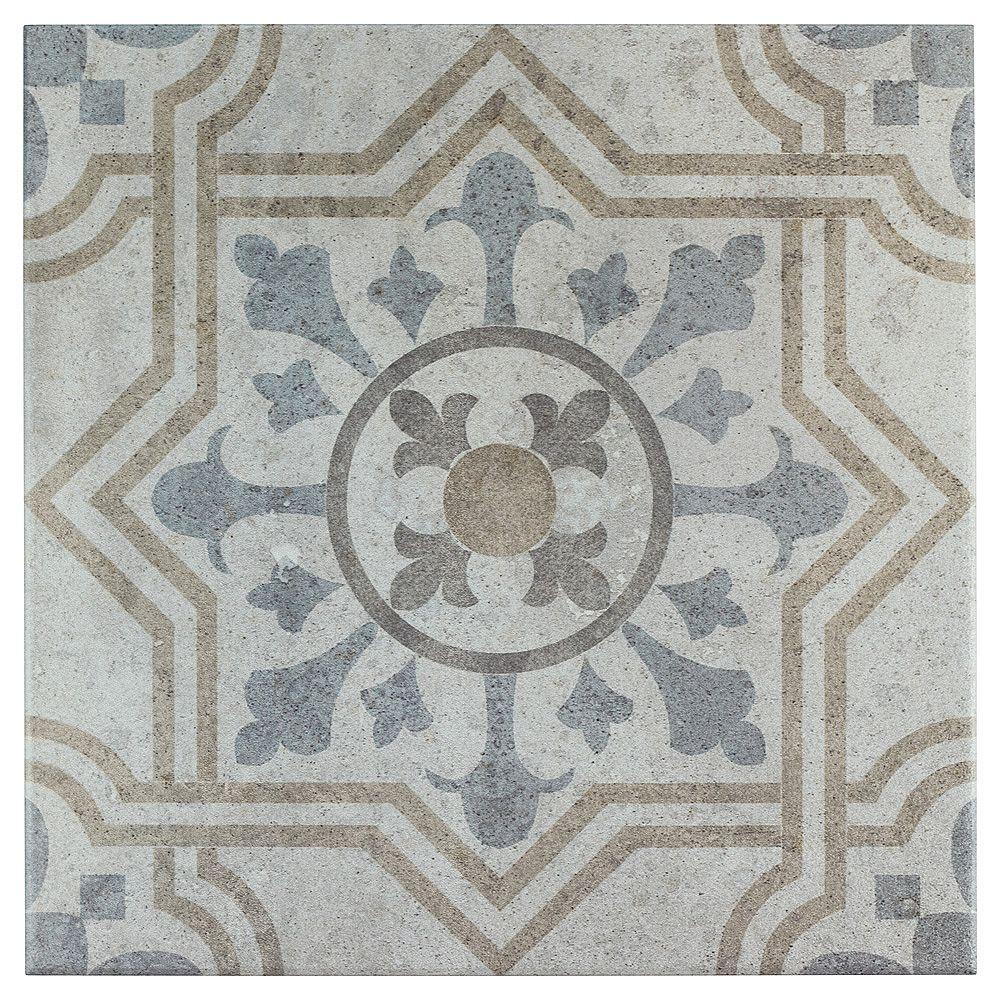 Merola Tile Llanes Perla Vigo 13-1/8-inch x 13-1/8-inch Ceramic Floor and Wall Tile (11.18 sq. ft. / case)