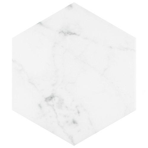 Classico Carrara Hexagon 7-inch x 8-inch Porcelain Floor and Wall Tile (7.67 sq. ft. / case)
