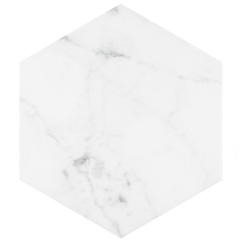 Classico Carrara Hexagon 7-inch x 8-inch Porcelain Floor and Wall Tile (7.67 sq. ft. / case)