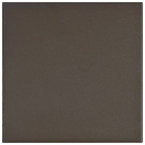 Klinker Chocolate Black 6-inch x 6-inch Ceramic Floor and Wall Quarry Tile (5.97 sq. ft. / case)