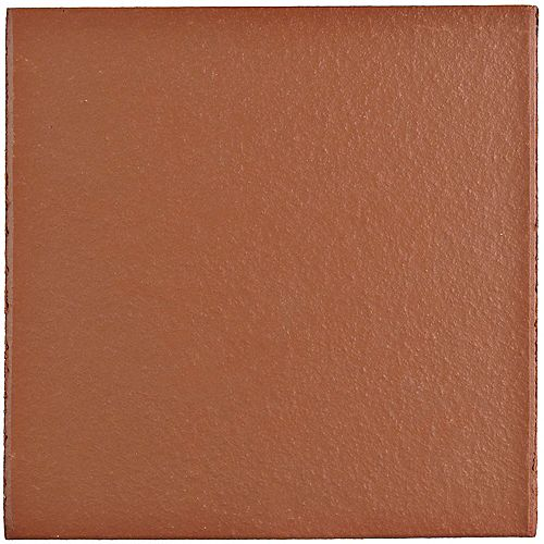 Klinker Red 5-7/8-inch x 5-7/8-inch Ceramic Floor and Wall Quarry Tile (6 sq. ft. / case)