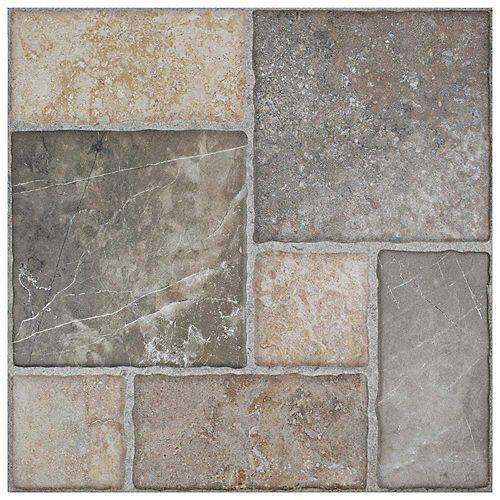 Carreau mur et sol en céramique 17 3/4 po x 17 3/4 po Figueres Magma (18 pi2/bte)
