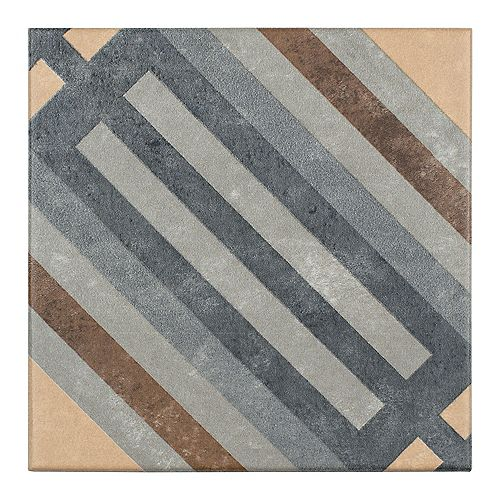 Europe Rail 7-inch x 7-inch Porcelain Floor and Wall Tile (10.95 sq. ft. / case)