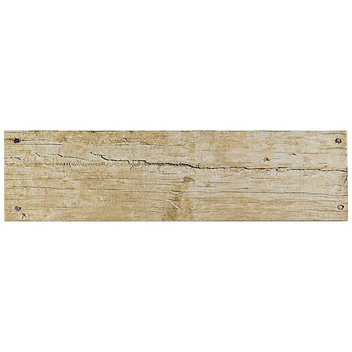 Merola Tile Cottage Beige 5-7/8-inch x 23-5/8-inch Ceramic Floor and Wall Tile (12.2 sq. ft. / case)