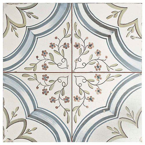 Nijar 17-5/8-inch x 17-5/8-inch Ceramic Floor and Wall Tile (11.02 sq. ft. / case)