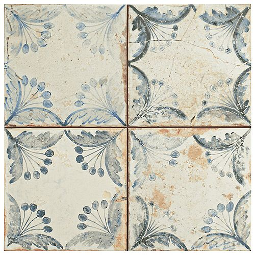 Oldker 13-inch x 13-inch Ceramic Floor and Wall Tile (12.2 sq. ft. / case)