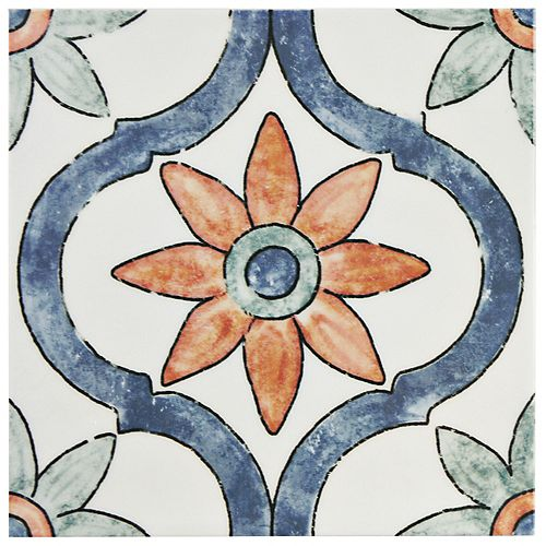 Bourges Arco 7-7/8-inch x 7-7/8-inch Ceramic Wall Tile (11.46 sq. ft. / case)