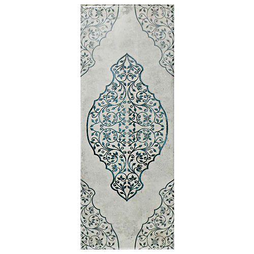 Merola Tile Carreau mural en céramique 5 7/8 po x 15 3/4 po Forever Grafic White (10,9 pi2/bte)