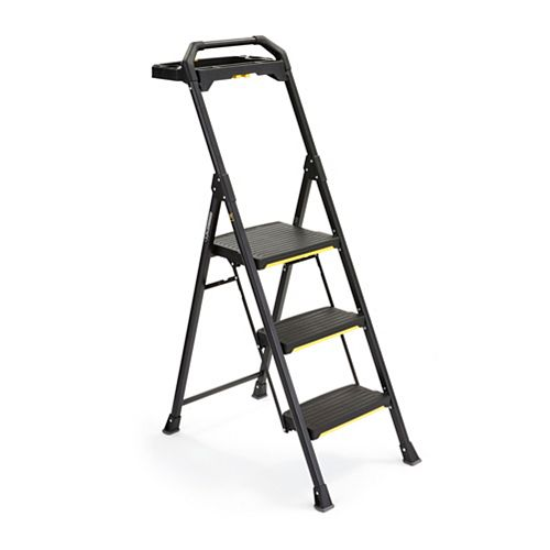 3-Step PRO Steel Project Stool with Tray