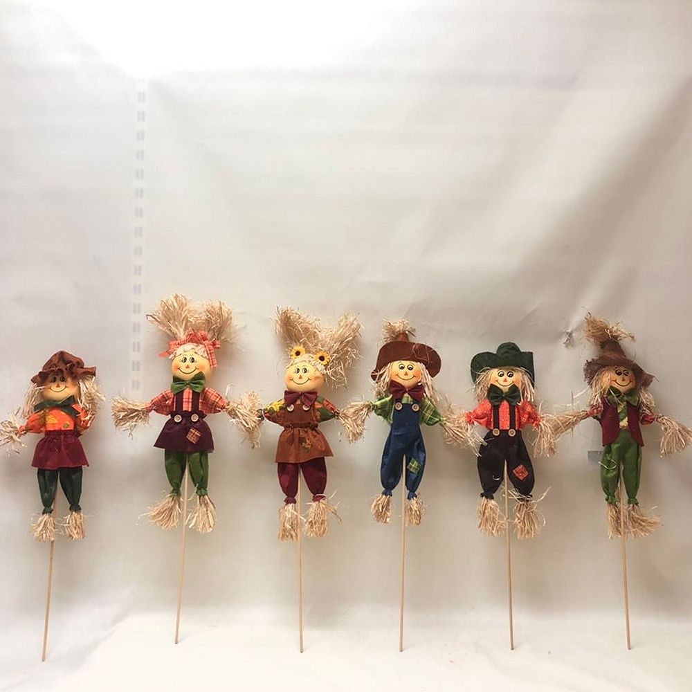 Home Accents 24-inch Harvest Scarecrow Halloween Decoration (6 Assorted Styles)