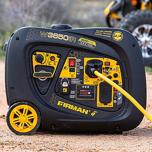 3650/3300 Watt Remote Start Inverter Portable Generator CARB and cETL Certified