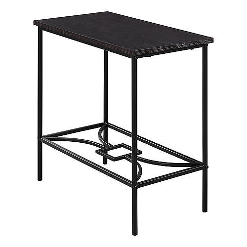 Monarch Specialties Table D'Appoint - 22 po H Cappuccino Metal Noir