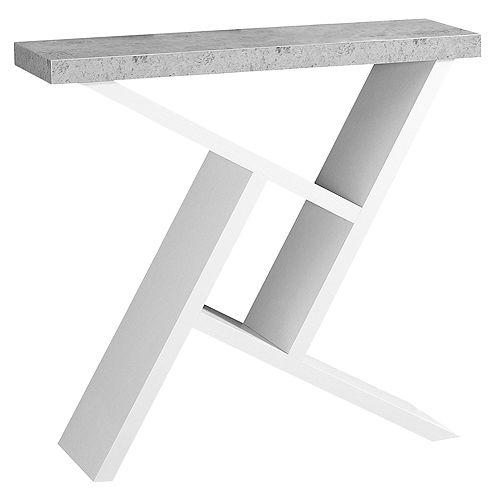 Table D'Appoint - 36 po L Console Blanc Simili-Ciment