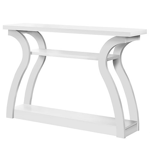 Accent Table - 47-inch L White Hall Console