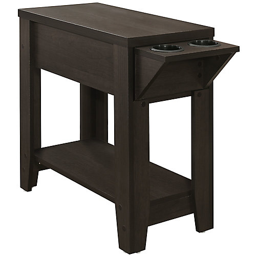 Table D'Appoint - 24 po H Cappuccino Avec Support A Verre