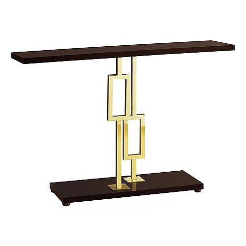 Table D'Appoint - 48 po L Cappuccino Metal Or