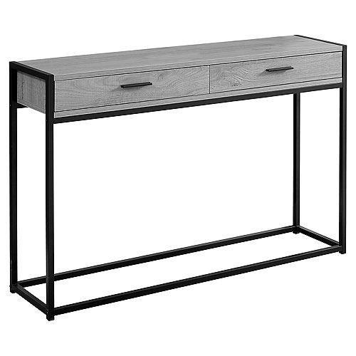 Table D'Appoint - 48 po L Console D'Entree Gris Noir