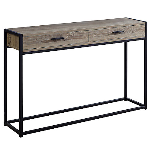 Accent Table - 48-inch L Dark Taupe Black Hall Console