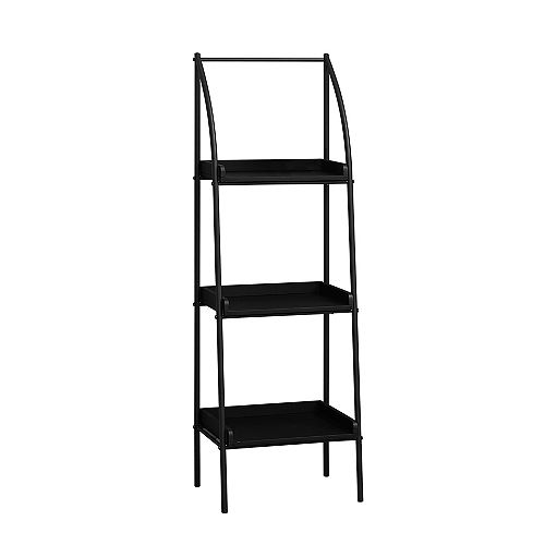 Monarch Specialties Bookcase - 48-inch H Black Black Metal
