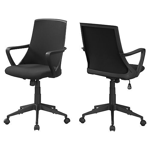 Monarch Specialties Office Chair - Black Black Mesh Multi Position
